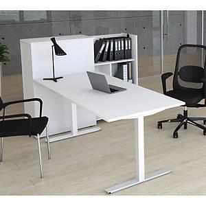 Skrivebord Square, 200 x 80 cm, hvid/hvid