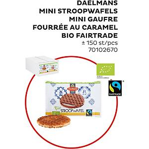 Daelemans stroopwafel bio mini, 8 g, pak van 150