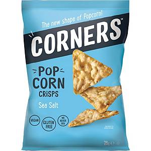 Corners popcorn zeezout, 28 g, pak van 18