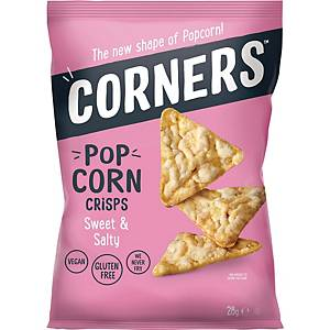 Corners popcorn zoet & zout, 28 g, pak van 18