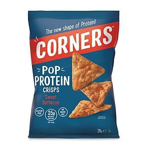 Corners Pop Protein crisps zoet bbq, 28 g, pak van 18