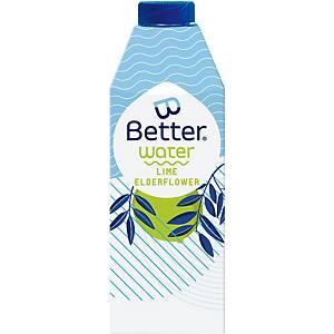 B-Better water limoen en vlierbloesem, 75 cl, pak van 8 flessen