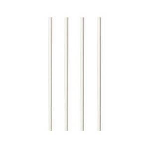 Pailles en papier, biodégradables, blanches, le paquet de 100
