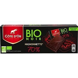 Mignonnettes Côte d Or bio 70% pointe de sel, le paquet de 12 x 18