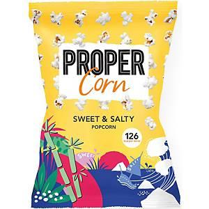 Propercorn popcorn zoet en zout, 30 g, pak van 12