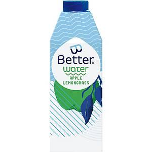 B-Better water appel en citroengras, 75 cl, pak van 8 flessen