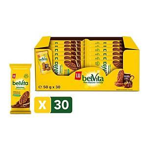 Belvita ontbijtkoek met chocolade, pak van 30