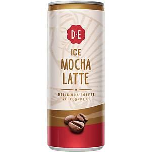 Douwe Egberts ice coffee mocha latte, 25 cl, pak van 12 blikjes