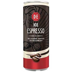 Douwe Egberts ice coffee espresso, 25 cl, pak van 12 blikjes