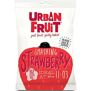 Urban Fruit gedroogd fruit smashing strawberry, 35 g, pak van 14