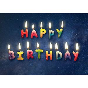 Doppelkarte Naturverlag Happy Birthday, 17,5 x 12,2 cm, neutral