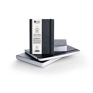 Caderno flexível Miquelrius Leather - 8º - 300 folhas - 5x5 - preto
