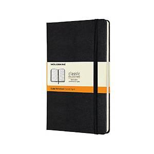 Caderno capa dura Moleskine Clássica - Grande - 400 folhas - liso - preto