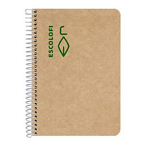 Caderno reciclado Escolofi - A5 - 100 folhas - liso
