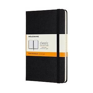 Caderno capa dura Moleskine Clássica - médio - 208 folhas - pautado - preto