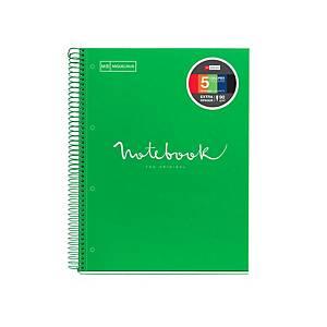 Caderno Miquelrius Notebook 5 - A4 - 120 folhas - 5x5 - verde