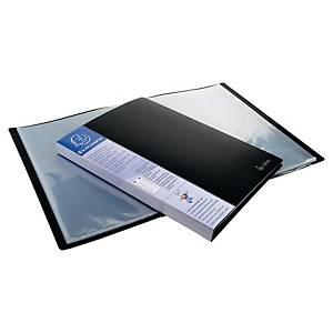 Exacompta Opaque PP Display Book, 24X32cm, 40 Pockets - Black