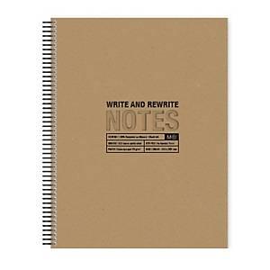 Caderno reciclado Miquelrius Notebook 4 - A4 - 120 folhas - 5x5 - kraft