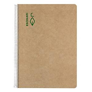 Cuaderno de espiral reciclado Escolofi - A4 - 100 hojas - 5x5