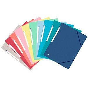 Pack de 10 pastas Oxford Top File - fólio - cartão - Sortidas