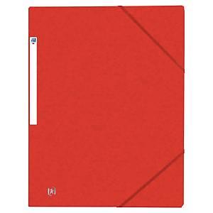 OXFORD TOP FILE W/ELAST 3 F/FOLD RED
