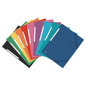 Elastic folder Oxford A4, pastel colours, assorted, pack of 10