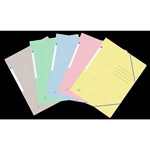 Gummibandmappe Oxford, A4, moderne Farben assortiert, Packung à 10 Stück