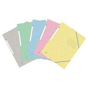 Elastic folder Oxford A4, modern colours, assorted, pack of 10