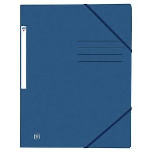 Chemise Oxford, 3 rabats, élastique, A4, carton, bleu foncé, la chemise