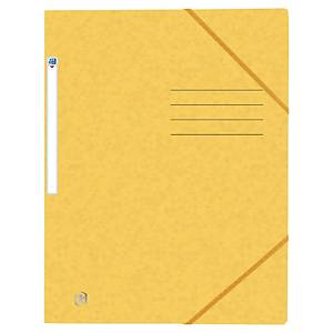 Oxford elastomap, 3 kleppen, sluitelastieken, A4, karton, geel, per map