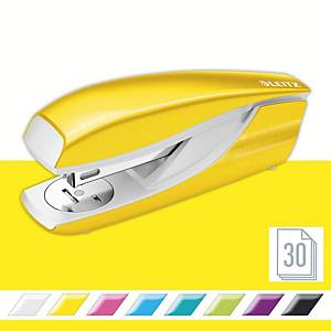 Leitz WOW Metal Stapler Half-Strip Yellow