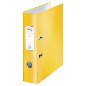 Leitz WOW 180° Lever Arch File 80mm Yellow