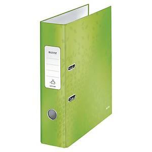 Ordner Leitz WOW 1005, PP-kaschiert, A4, Rückenbreite: 80mm, grün metallic