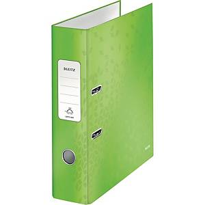 Leitz WOW 180° Lever Arch File 80mm Green