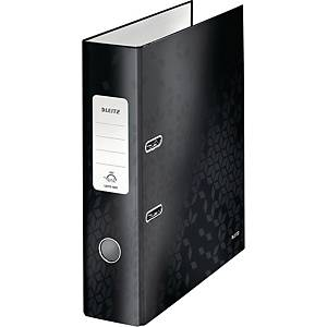 Leitz WOW 180° Lever Arch File 80mm Black
