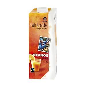 Oxfam sinaasappelsap, 1 l, pak van 12 drankkartons