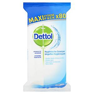 PK80 DETTOL HYGIENIC WET WIPES