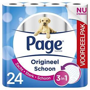 Papier toilette Page Propreté Originelle, 153 feuilles/rouleau, 24 rouleaux