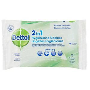 PK15 DETTOL 2IN1 WET WIPES