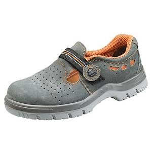 Bezpečnostné sandále Bata Classics Riga, S1 SRA, veľkosť 43, sivé