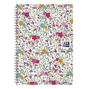 Notesbog Oxford, B5, linjeret, 60 ark, 90 g, blomstret