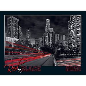 TOPTIMER WALL CALENDAR T091 RED IN BLACK