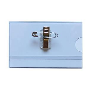 Seco kombinált biztosítótűs névkitűző, 90 x 55 mm, 25 db/csomag