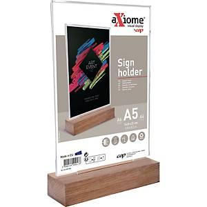 Tischaufsteller CEP 20033, A5, Material: Holz, glasklar