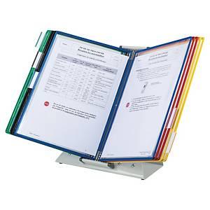 Système d'affichage Tarifold 434109 avec pied métal, 10 panneaux, PVC, 5 coloris
