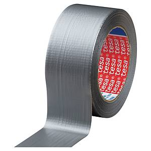 Tesa® Extra Power ducttape versterkte plakband, B 50 mm x L 25 m, zilverkleurig