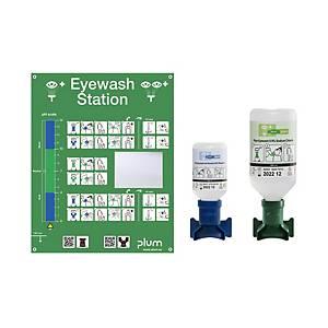 Augen-Notfallstationbox Plum 4770, 1x200ml, 1x500ml