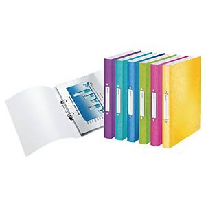 Classeurs Leitz WOW, A4, 2 anneaux O, PP, dos 2,5 cm, 6 pces couleurs assorties