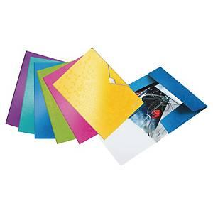 Leitz WOW 3-Flap Folder PP A4 Asst - Pack Of 6