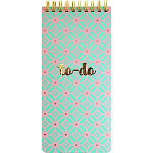 Kangaro Things to do notitieboek, 19 x 9 cm, spiraalbinding, roze/goudkleurig